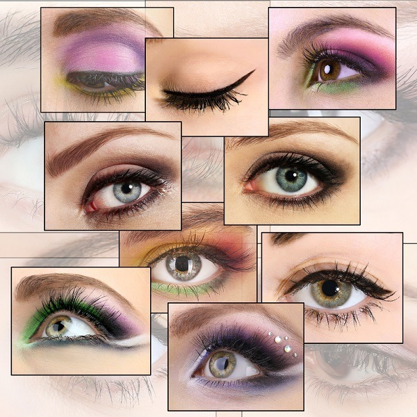 eye makeup collage